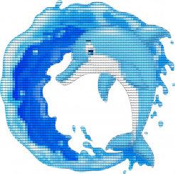 Панно для бассейна голубой