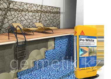 Клей Sika Ceram Pro White, мешок 20 кг. Белый клей для мрамора и мозайки