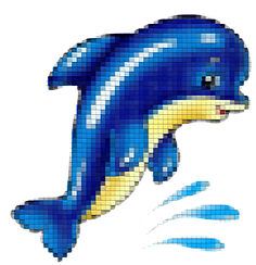 Панно для бассейна синий
