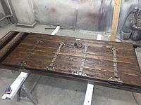 Дверь железная с отделкой шпон на заказ в Алматы
