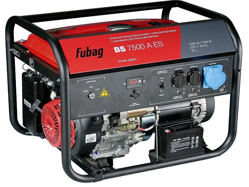 Генератор бензиновый BS 7500 A ES  Fubag с электростартером и коннектором автоматики