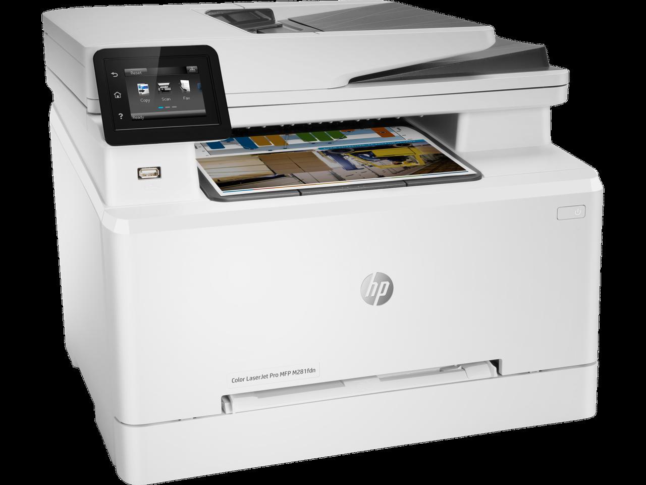 МФУHP T6B81A HP Color LaserJet Pro MFP M281fdn Prntr (A4) Printer/Scanner/Copier/Fax/ADF, 600 dpi, 21 ppm, 80