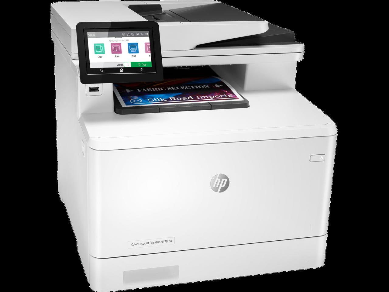 МФУHP W1A79A HP Color LaserJet Pro MFP M479fdn Prntr (A4) , Printer/Scanner/Copier/Fax/ADF, 600 dpi, 27 ppm,