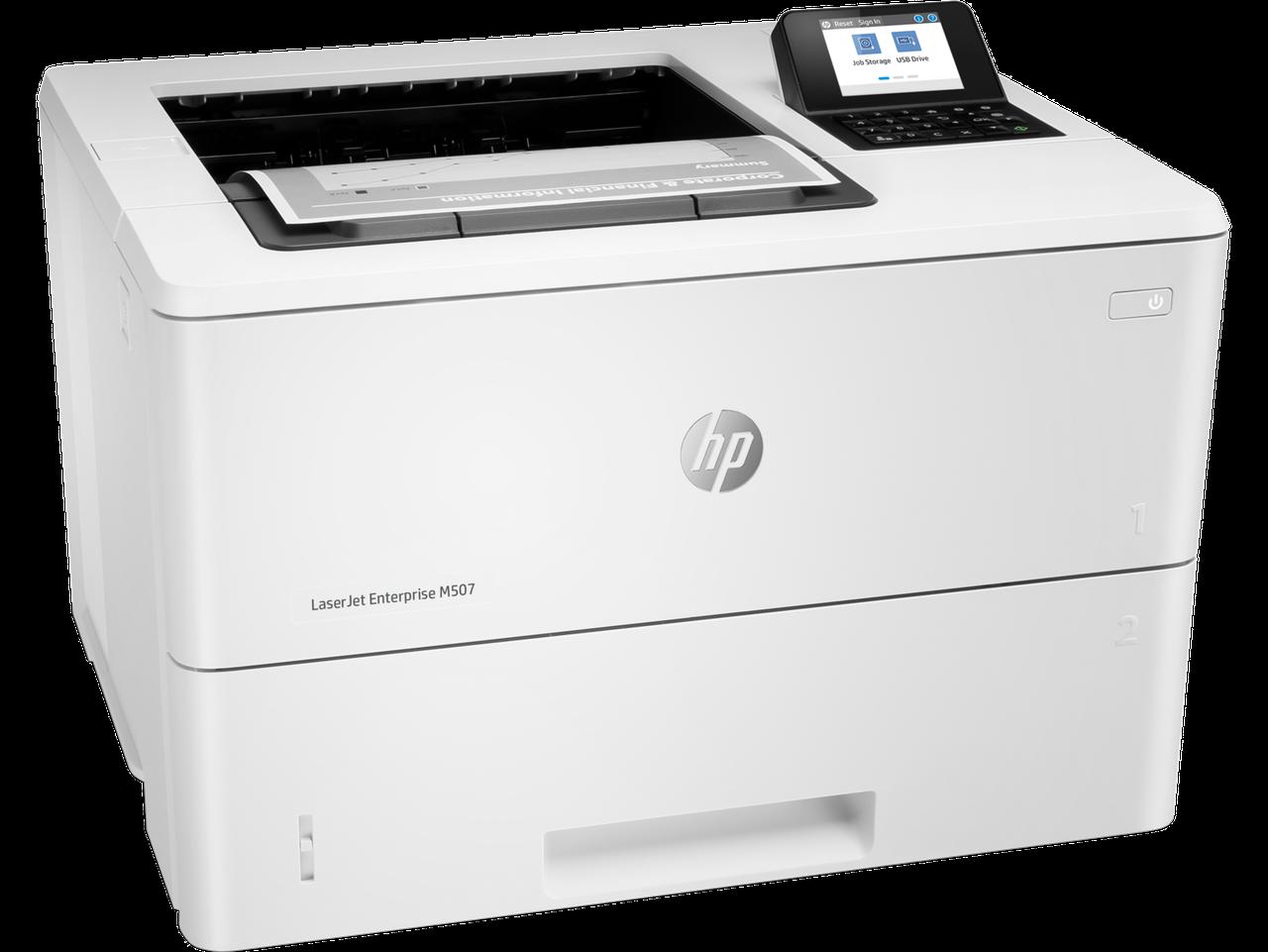 ПринтерHP 1PV87A HP LaserJet Enterprise M507dn Printer (A4) , 1200 dpi, 43 ppm, 512MB, 1.2Ghz, tray 100+550 p