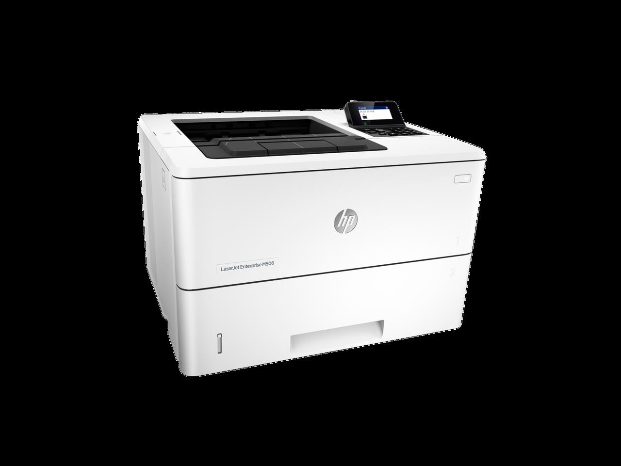 ПринтерHP F2A69A HP LaserJet Enterprise M506dn Printer (A4) , 1200 dpi, 43 ppm, 512MB, 1200Mhz, tray 100+550