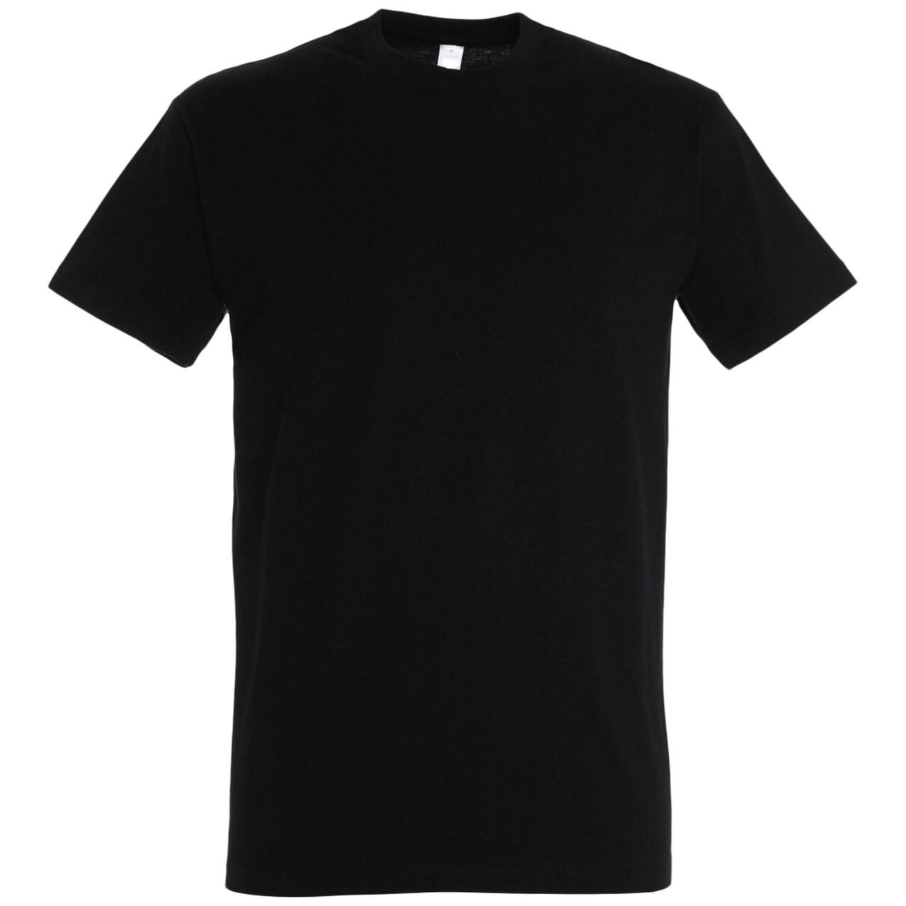 Oднотонная футболка | Черная | 160 гр. | XS