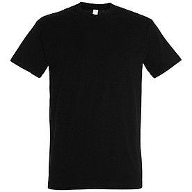 Oднотонная футболка   Черная   160 гр.   L