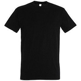 Oднотонная футболка   Черная   160 гр.   2XL