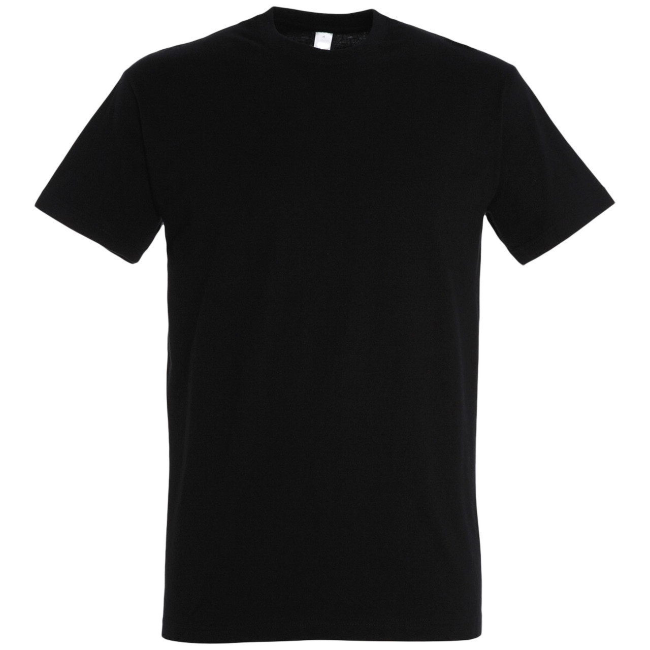 Oднотонная футболка | Черная | 160 гр. | 3XL