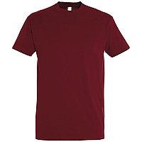 Oднотонная футболка | Бордовая | 160 гр. | XS