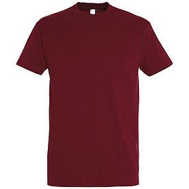 Oднотонная футболка   Бордовая   160 гр.   S