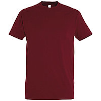 Oднотонная футболка | Бордовая | 160 гр. | M