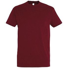 Oднотонная футболка   Бордовая   160 гр.   L