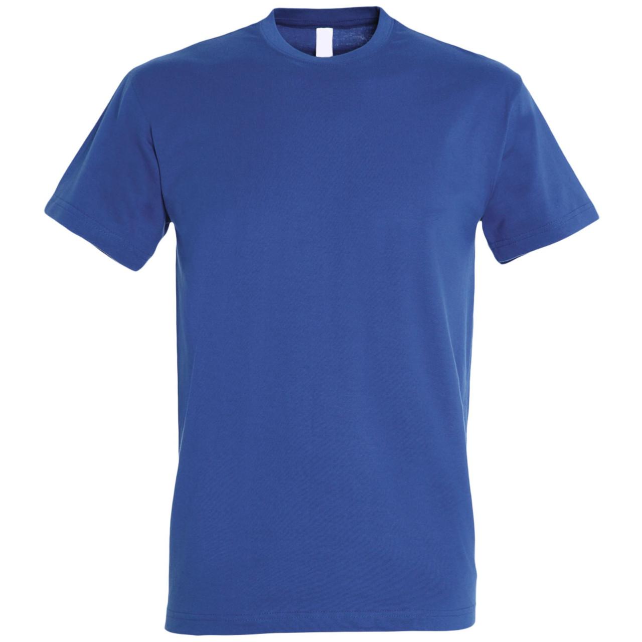 Oднотонная футболка | Синяя | 160 гр. | XS