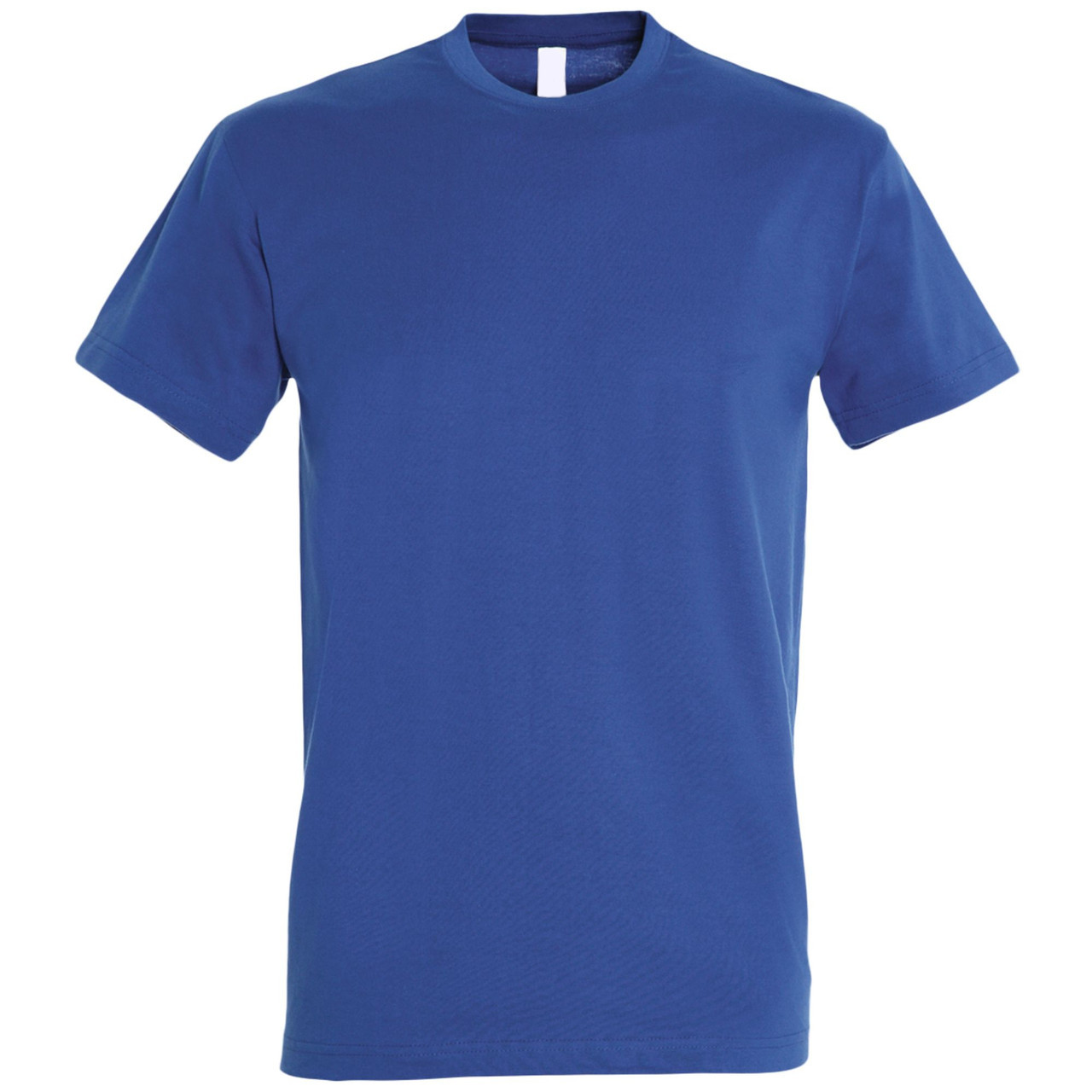Oднотонная футболка   Синяя   160 гр.   S