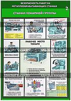 """Плакаты """"Безопасность работ на металлообрабатывающих станках"""", фото 1"""