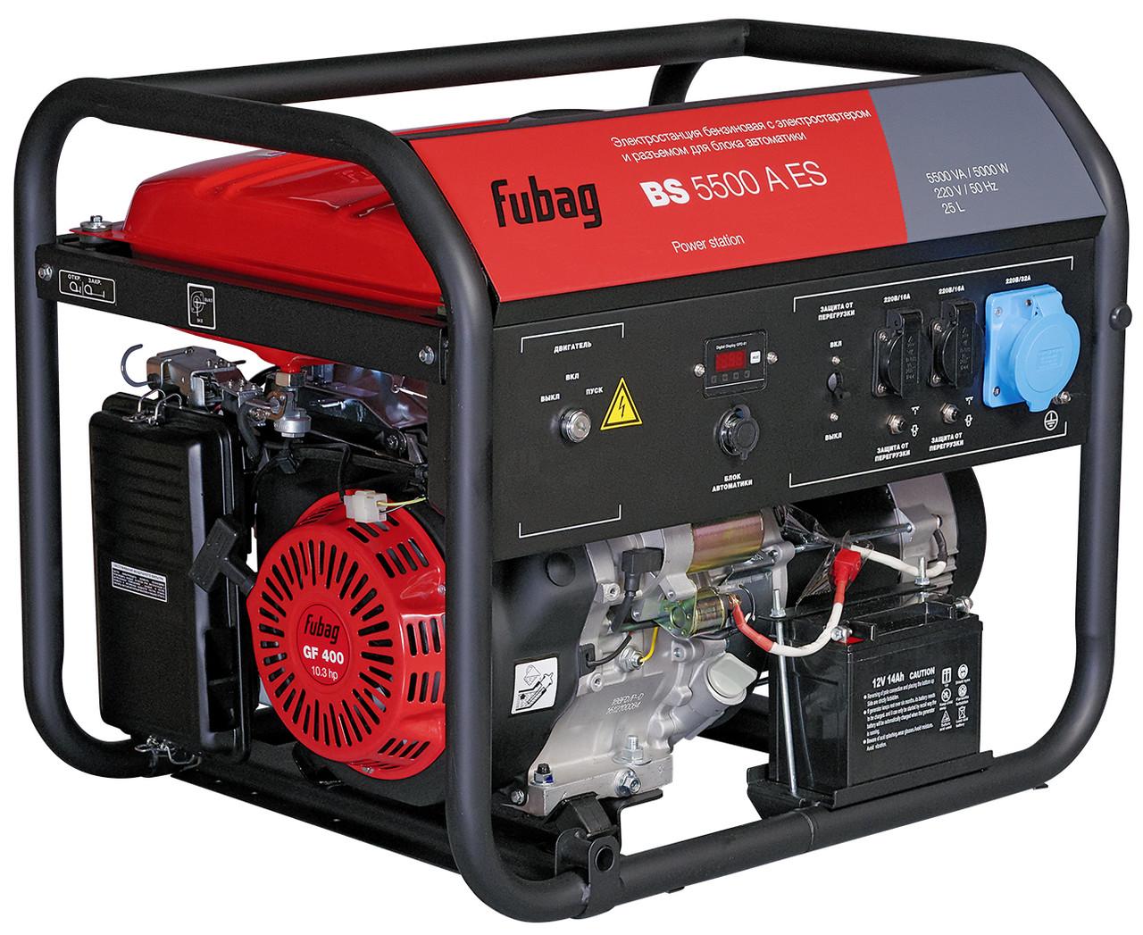 Генератор бензиновый Fubag BS 5500 A ES с электростартером