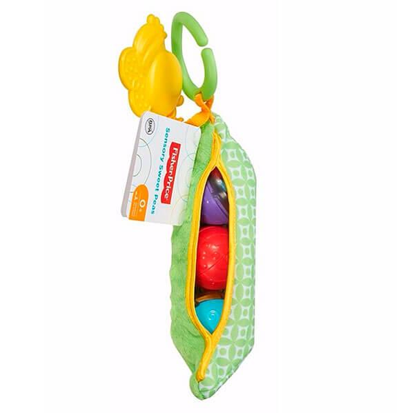 "Mattel Fisher-Price  Фишер Прайс Плюшевая игрушка-погремушка ""Горошек"""