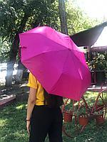 Зонт малиновый , полуавтомат ручка, фото 1