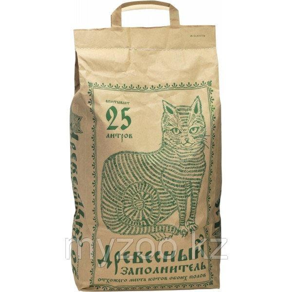 Древесный заполнитель, 25 л |Наполнитель для кошек и грызунов|