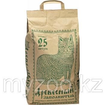 Древесный заполнитель, 25 л  Наполнитель для кошек и грызунов 