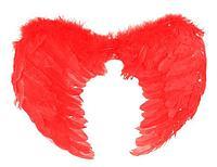 Крылья ангела, 59×59, красные