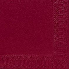 Салфетки 33х33см, 2 сл., Бордовый, Бумага, 125 шт