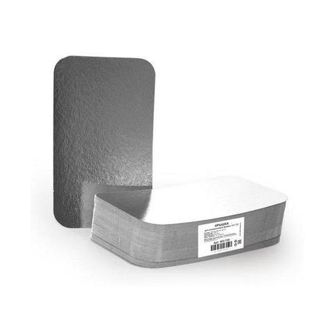 Крышка к алюминиевой форме 196x113мм, картон/алюминий, 900 шт, фото 2