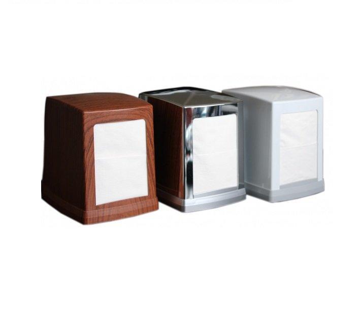 Диспенсер настольный для салфеток 8,5х12 см, глянц. хром, пластик