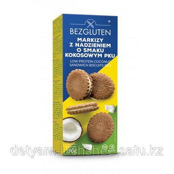 Печенье Маркизы с кокосовой начинкой с низким содержанием белка, без глютена, 190 г, Bezgluten