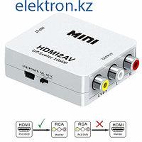 Конвертер, переходник HDMI - 3 RCA (тюльпаны) купить Нур-Султан