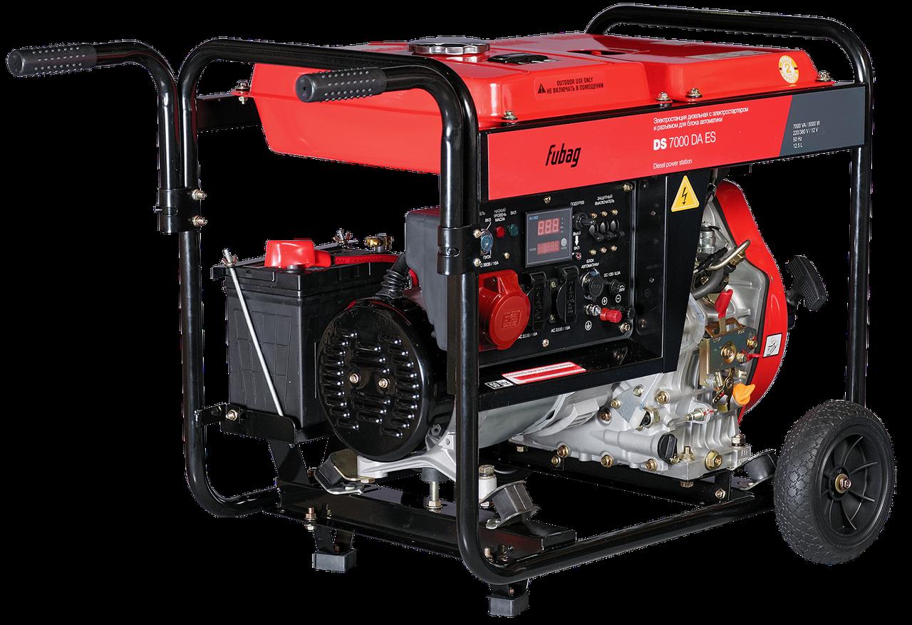 Дизельный генератор, электростартер,  коннектор автоматики, FUBAG DS 7000 DA ES