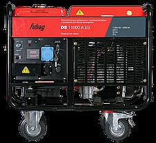 Генератор дизельный, электростартер, коннектор автоматики, FUBAG DS 11000 A ES, фото 2