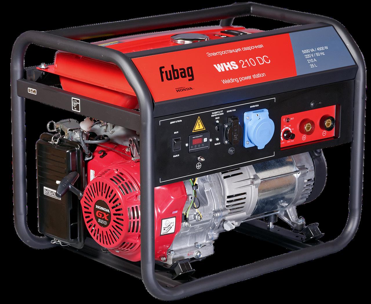 Сварочный генератор, с двигателем Honda, FUBAG WHS 210 DC
