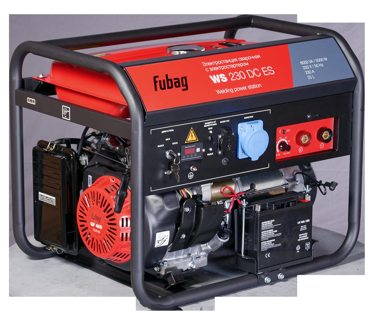 Сварочный генератор, бензиновый, FUBAG WS 230 DC ES