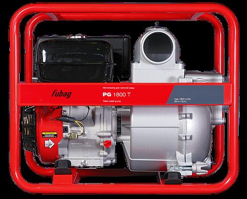 Мотопомпа для сильнозагрязненной воды, FUBAG PG 1800 T, 1800 л/мин, 26м, фото 2