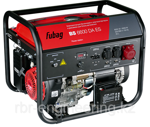 Генератор бензиновый с электростартером, FUBAG BS 6600 DA ES, фото 2