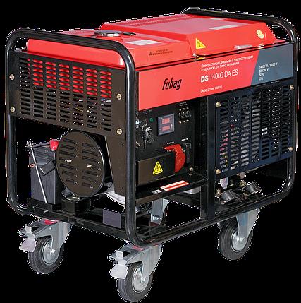 Дизельный генератор с электростартером, коннектором автоматики, FUBAG DS 14000 DA ES, фото 2