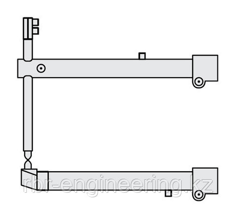 FUBAG Комплект плеч O 40 х 700мм наклонные с уменьшенным электрододержателем для серии RS, фото 2