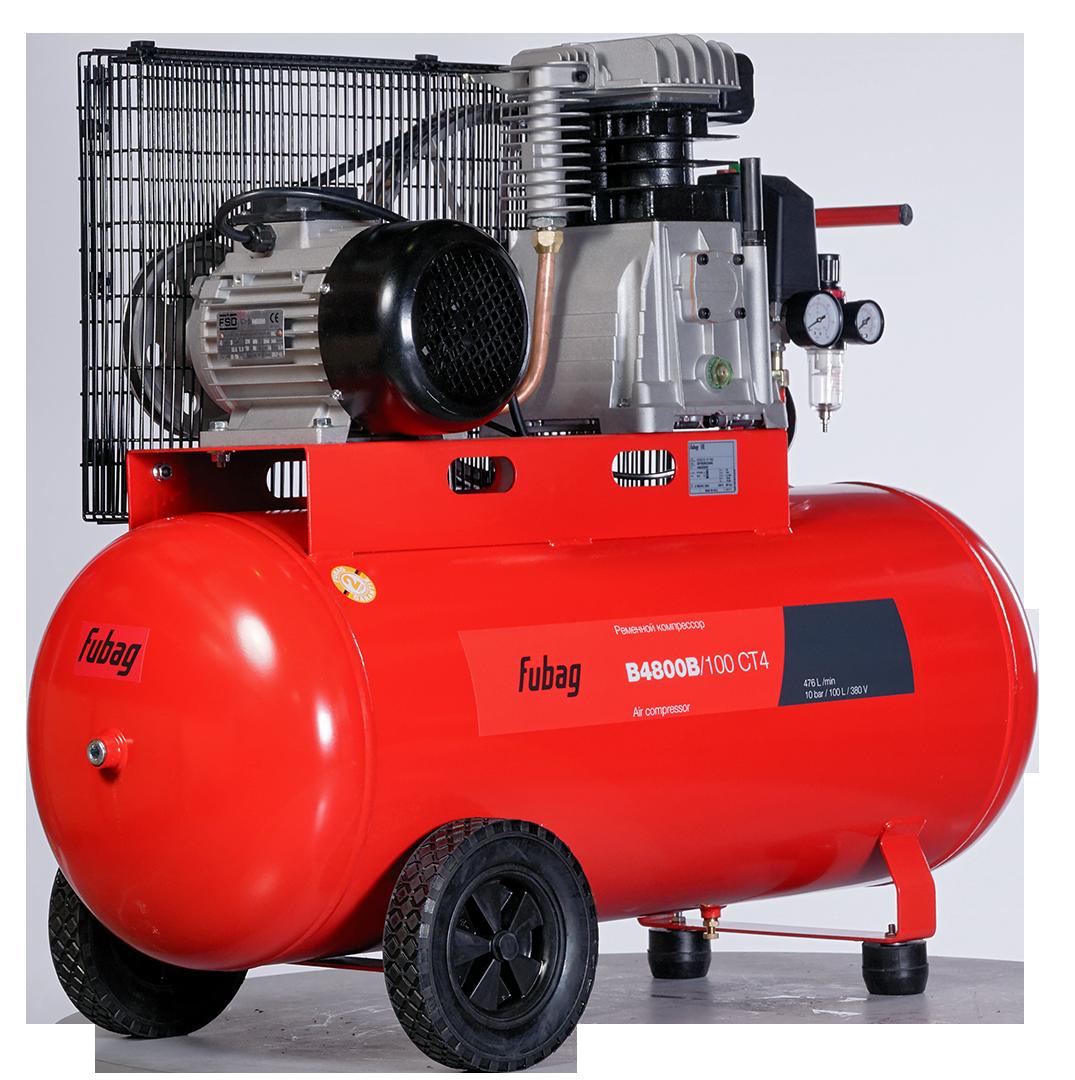 FUBAG, компрессор B4800B/100 CT4, 480 л/мин, 100л, 10бар, 3.0кВт
