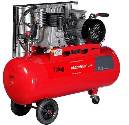 Компрессор, воздушный компрессор, FUBAG B5200B/200 СТ4, 530л/мин, 200л, 10бар, 3кВт, 380В, фото 2