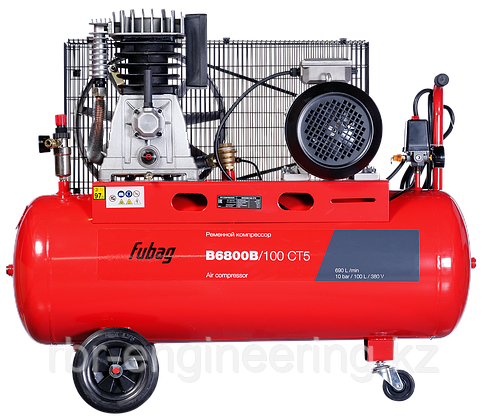 Компрессор воздушный, ременной Fubag B6800B/100 СТ5, 690л/мин, 100л, 10бар, 4кВт, 380В, фото 2