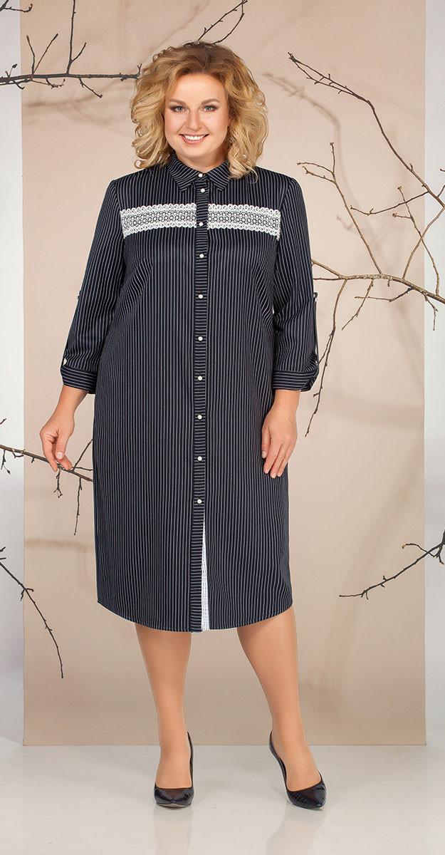Платье Ивелта плюс-1648, черный, 54
