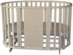 """Кроватка - трансформер Антел """"Северянка-3 Жираф"""", (слоновая кость), 6-в-1,"""