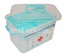"""Аптечка """"Домашний доктор"""", контейнер для аптечки 6,5 литров с вкладышем 80903 (002)"""