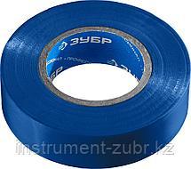ЗУБР Электрик-20 Изолента ПВХ, не поддерживает горение, 20м (0,16x19мм), синяя синяя, фото 2