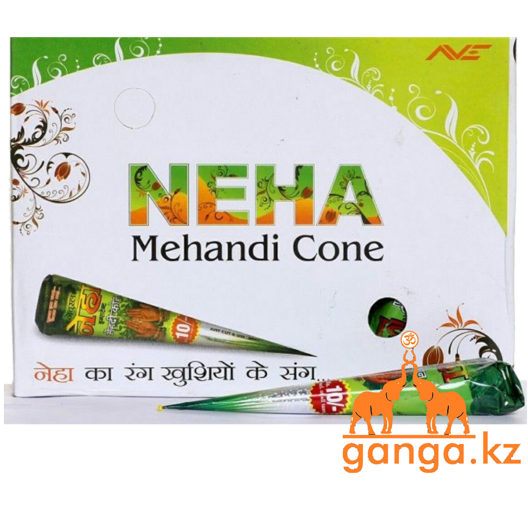 Натуральная хна для мехенди (тату) в конусе NEHA