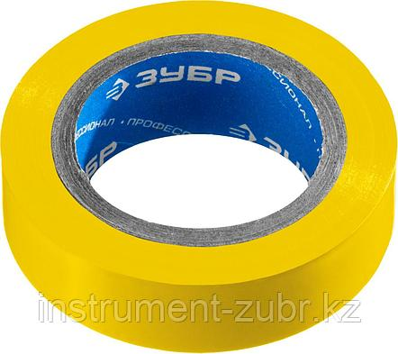 Желтая изолента ПВХ, 10м х 15мм, ЗУБР Электрик-10, фото 2