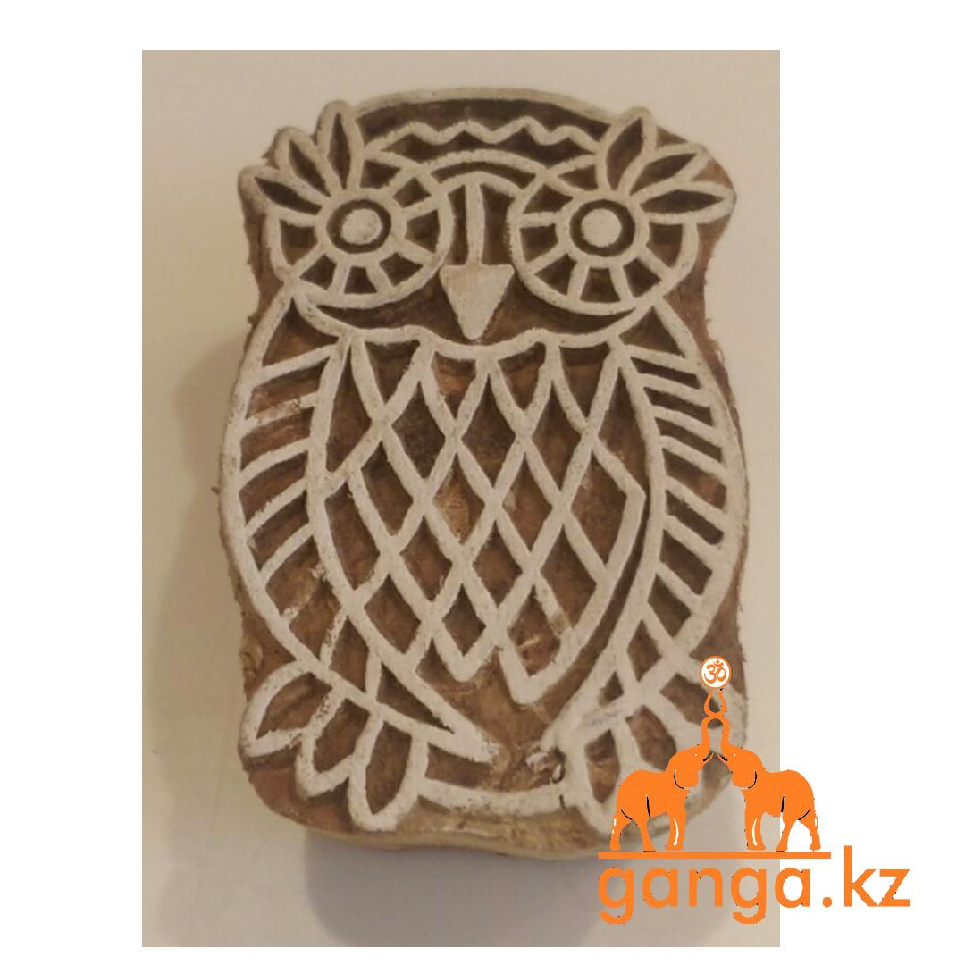 Печать для мехенди Сова деревянная, КОД 0284
