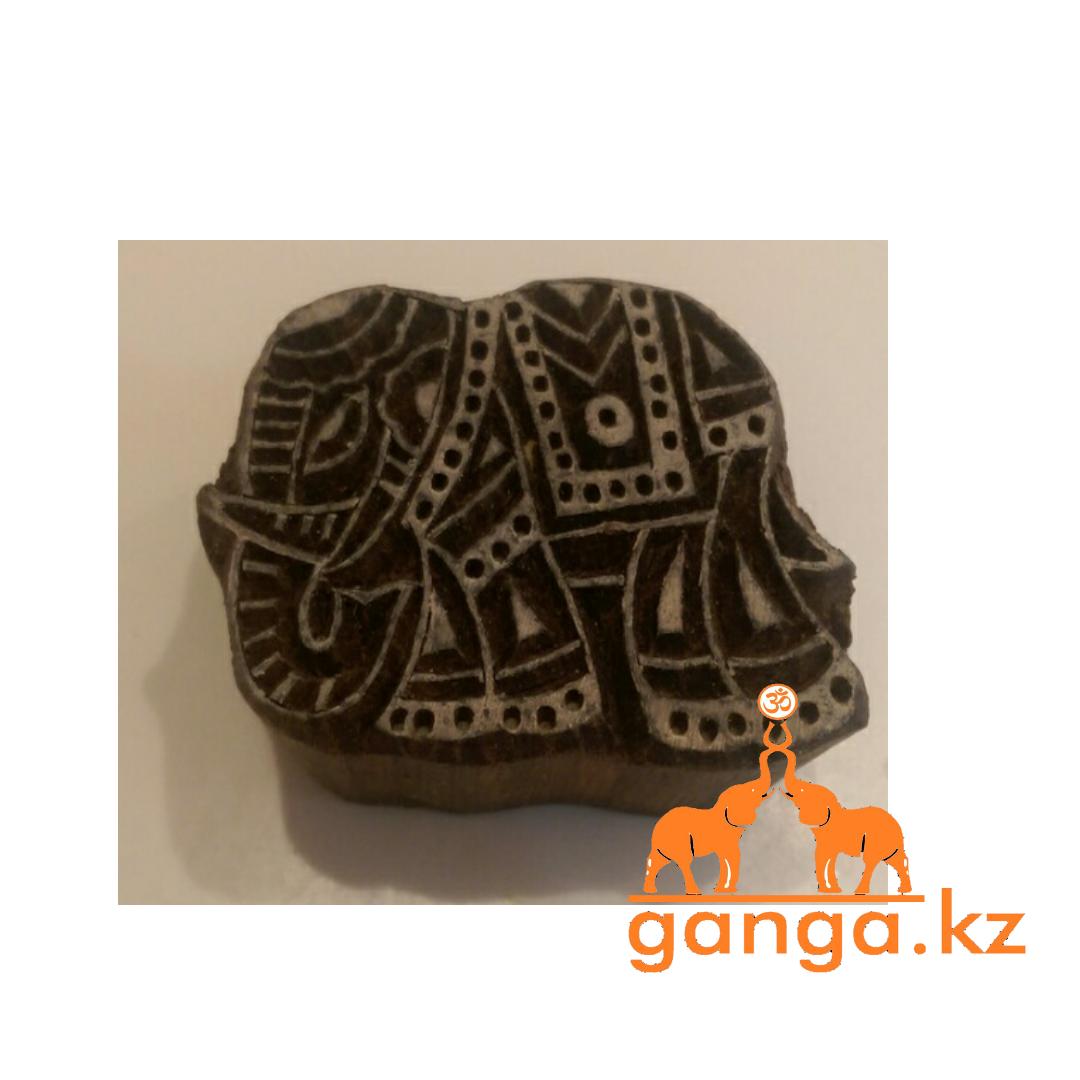 Печать для мехенди Слон (деревянная), КОД 0285